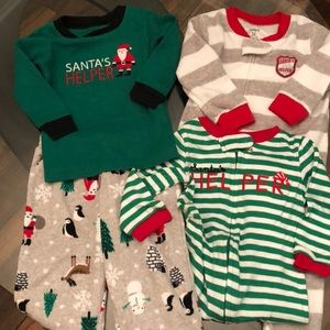 Santa 12 Month Boy Carter's pajamas